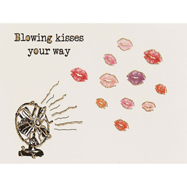Blowing Kisses Birthday Card