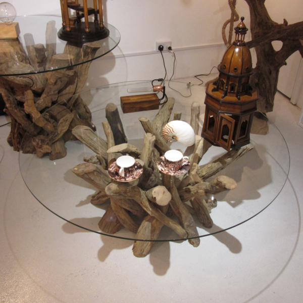 Driftwood Round Coffee Table Base