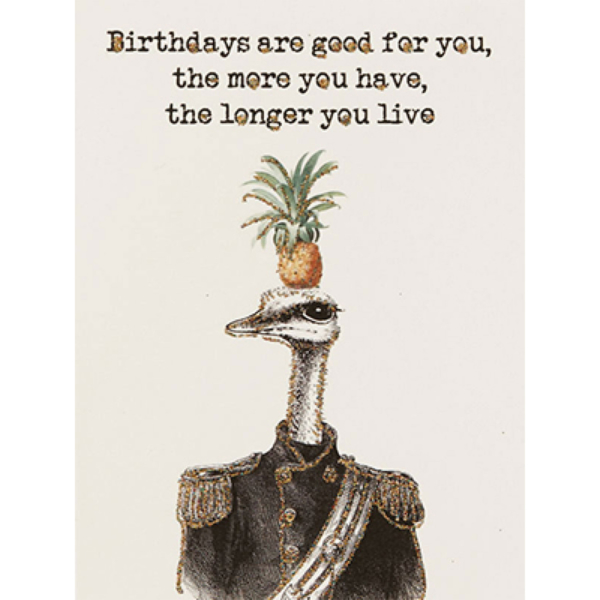 Good For You Birthday Card
