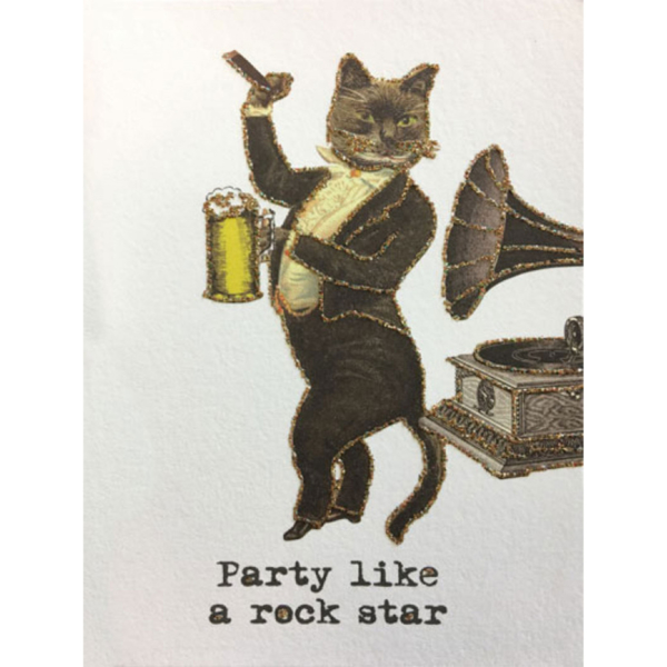 Rock Star Greetings Card