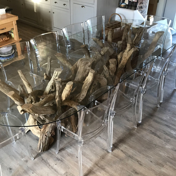 Natural Driftwood Dining Table Base 250cm x 65cm