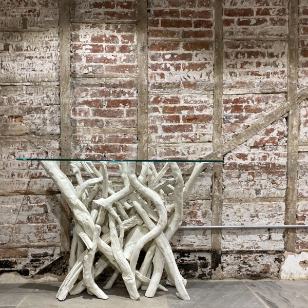 Bleached Driftwood Console Table
