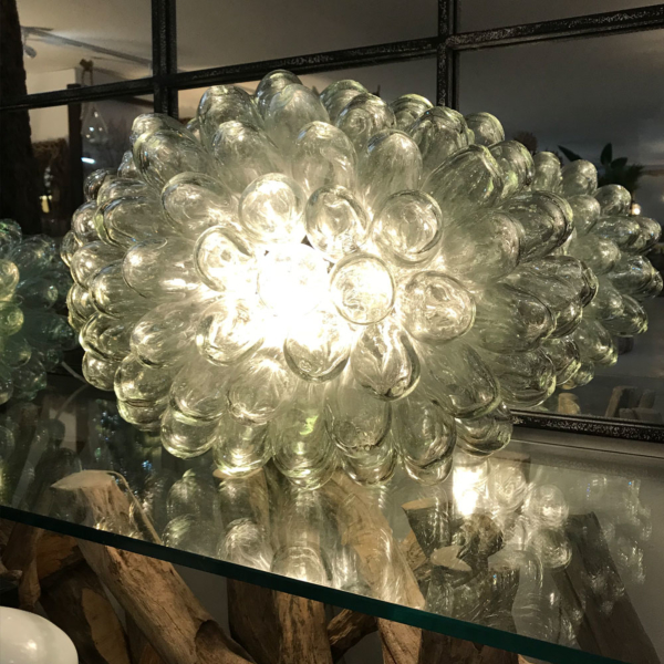 Large Clear Recycled Glass Teardrop Lamp