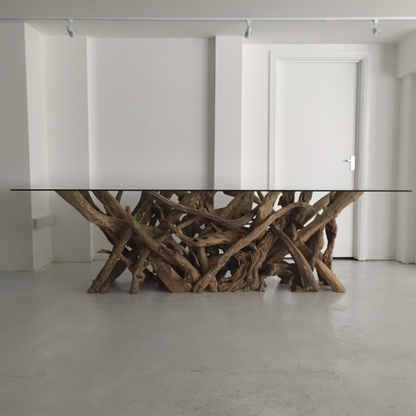Natural Driftwood Dining Table Base 220cm x 65cm
