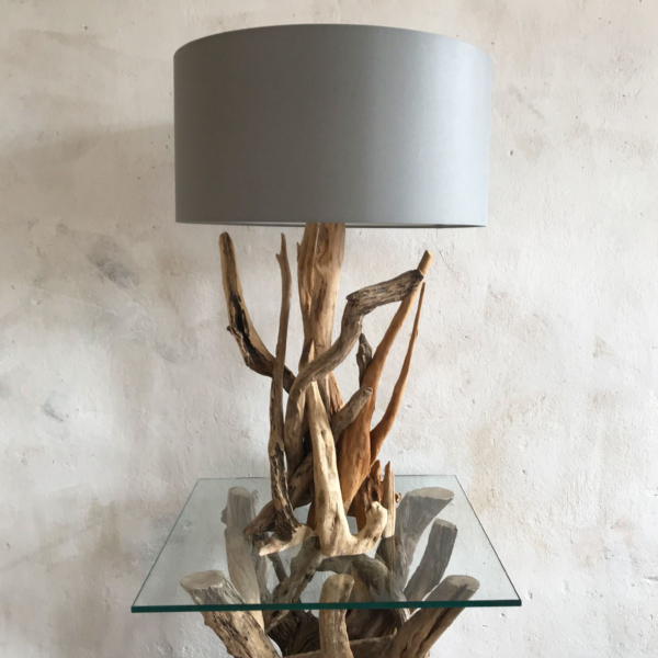 H55cm Branched Natural Driftwood Table Lamp