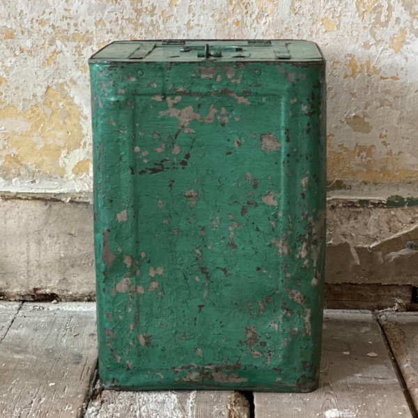 Vintage Green Lidded Storage Container