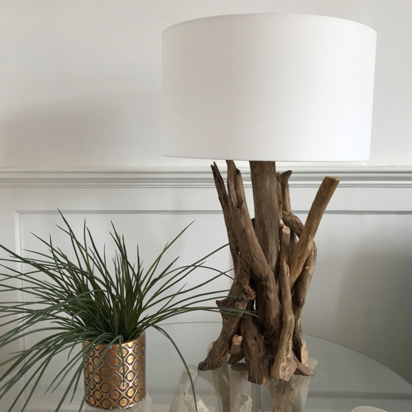 H45cm Natural Driftwood Table Lamp