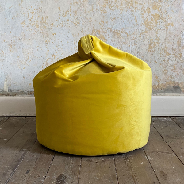Lemon Velvet Bean Bag