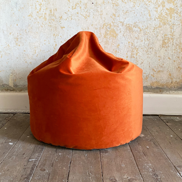 Pumpkin Velvet Bean Bag