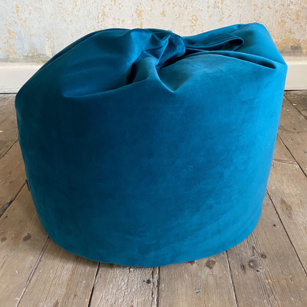 Teal Velvet Bean Bag