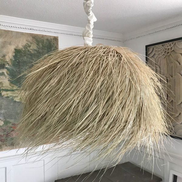 PALM FIBRE Domed Pendant Lamp Shade 60cm