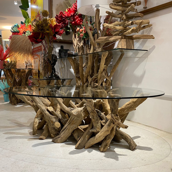 Large Driftwood Oval Coffee Table