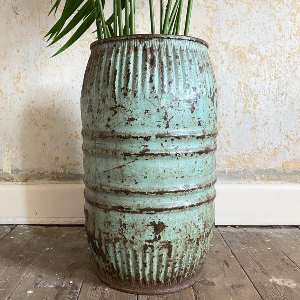 Turquoise Vintage Indian Dolly Tub