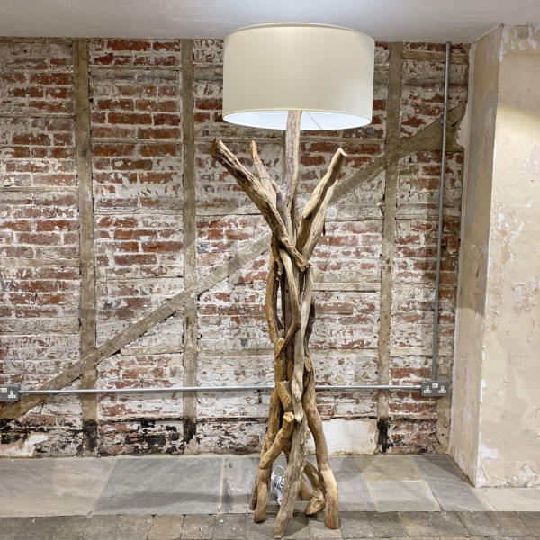 Branched Natural Driftwood Floor Lamp 175cm