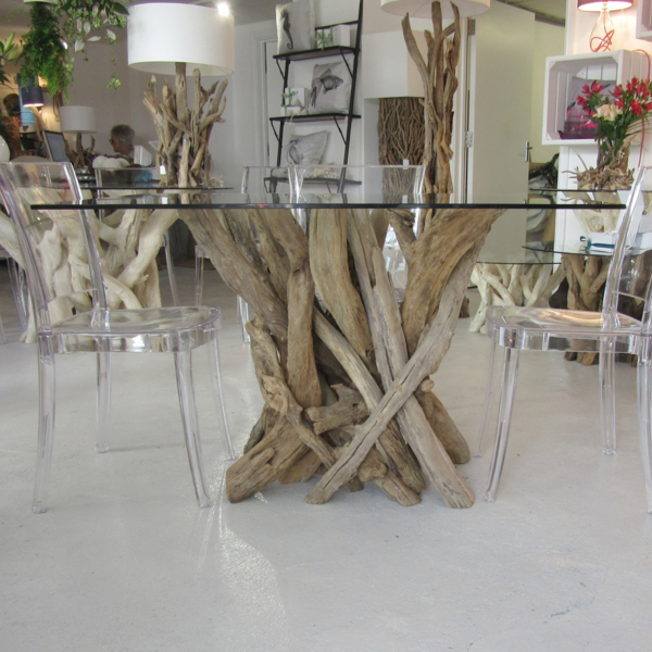 Driftwood Small Rectangular Dining Table