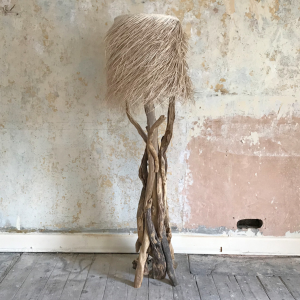 Branched Natural Driftwood Floor Lamp 135cm