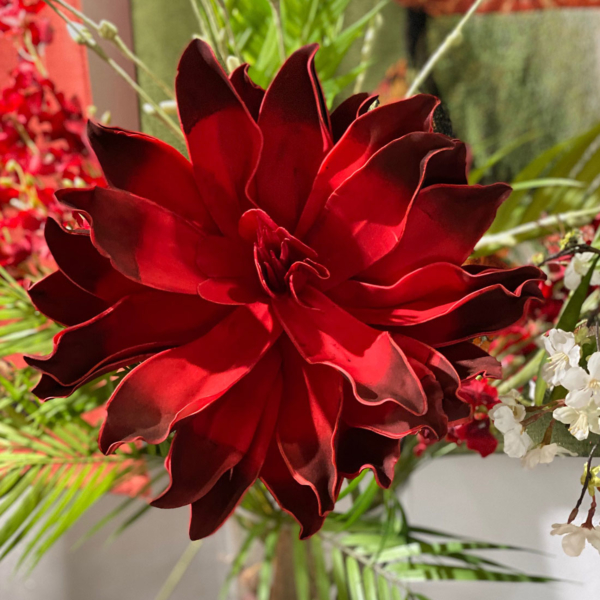 PANA Red Faux Flower Stem