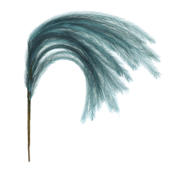 Teal Feathery Faux Stem