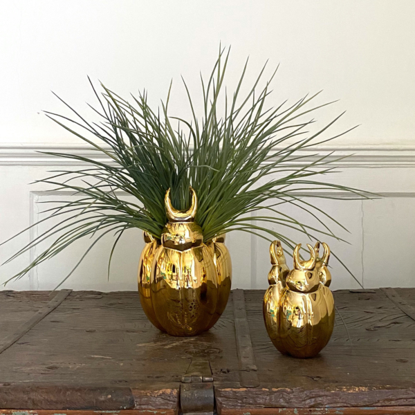 Gold Bug Vase - Small