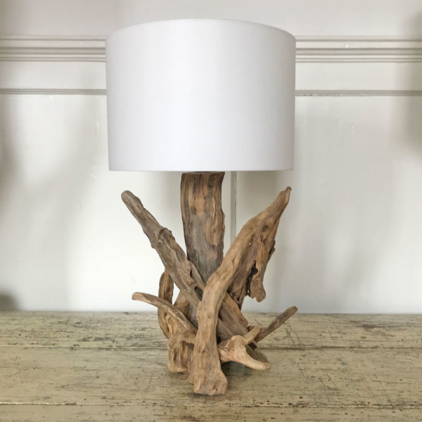 H35cm Branched Natural Driftwood Table Lamp