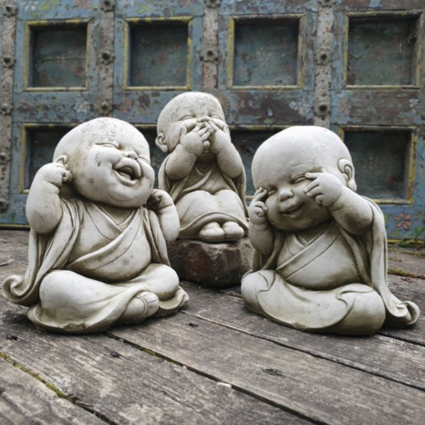 Set of 3 Wise Monks