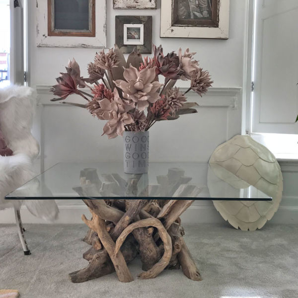 Driftwood Square Coffee Table