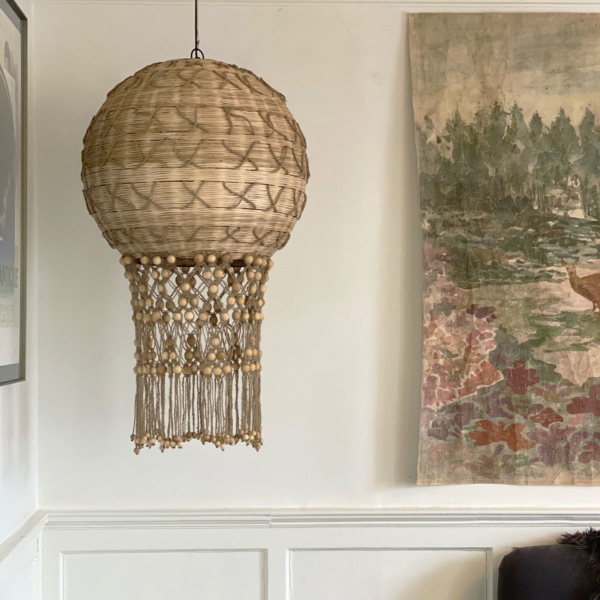 Natural Bamboo and Jute Ceiling Light