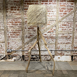 Natural Driftwood Tripod Floor Lamp