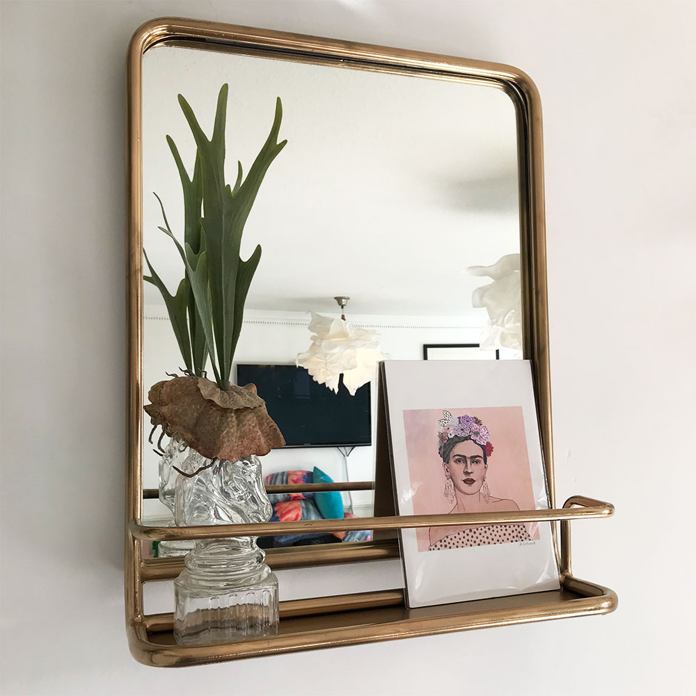 Gold Portrait Carriage Mirror