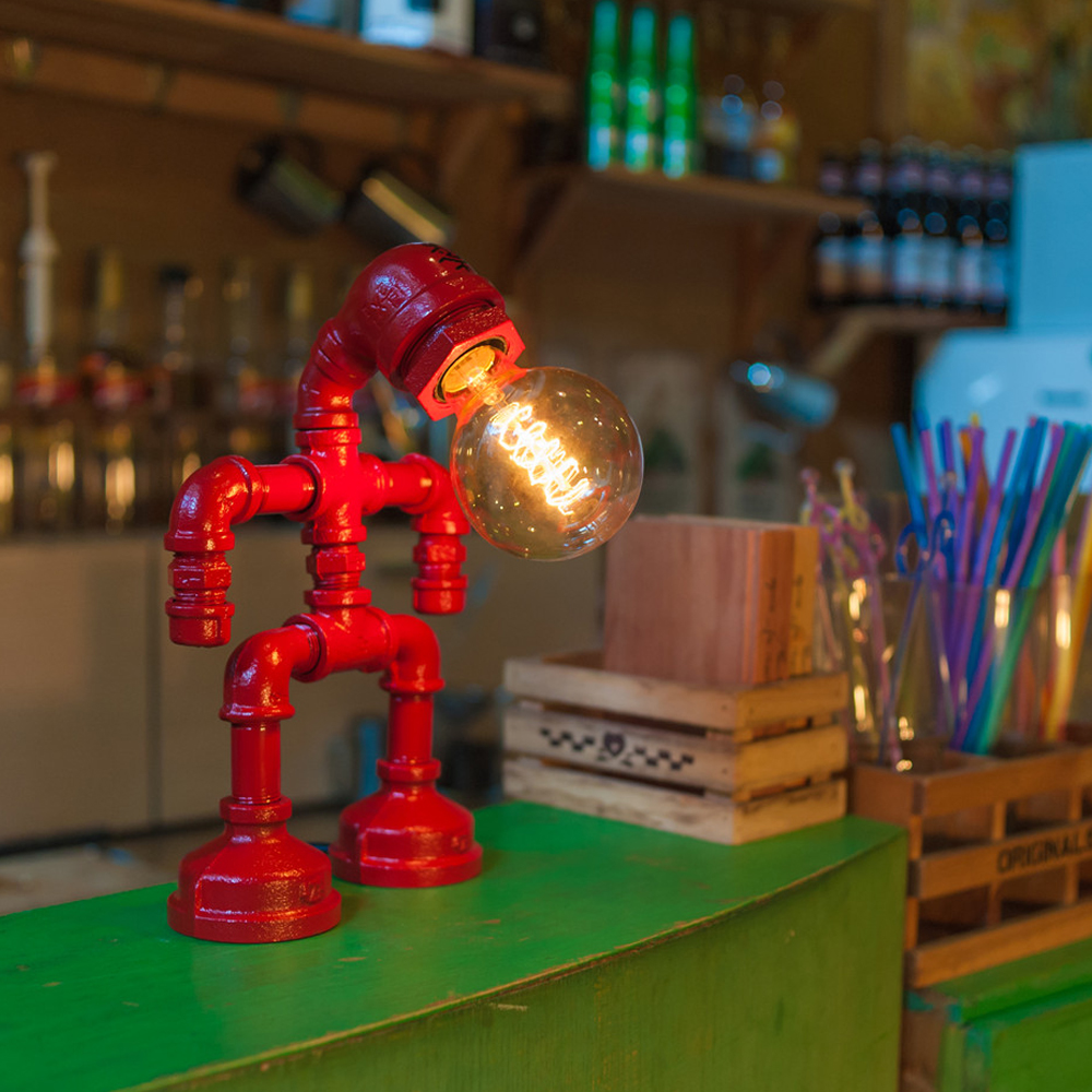 Small Red Robot Lamp