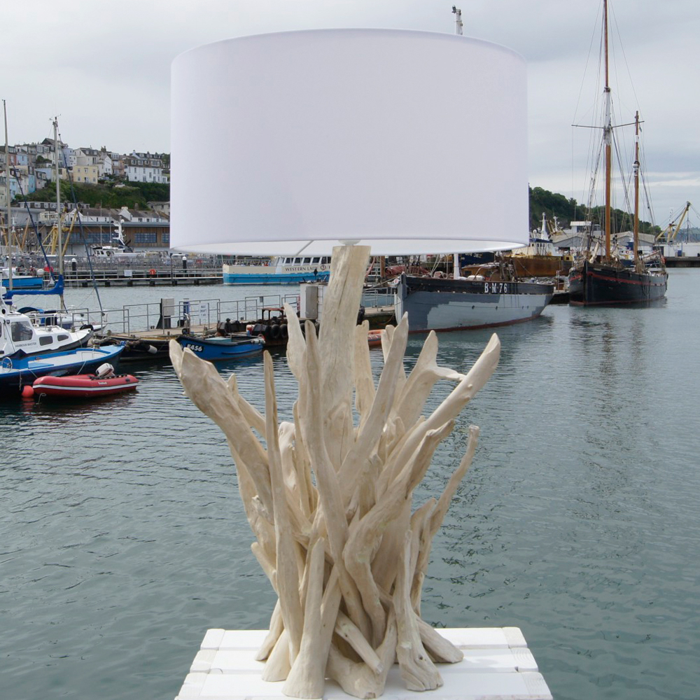 The Shore Bleached Driftwood Lamp